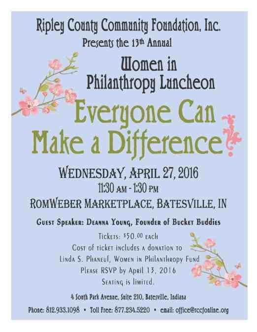 2016 Women in Philanthropy Luncheon