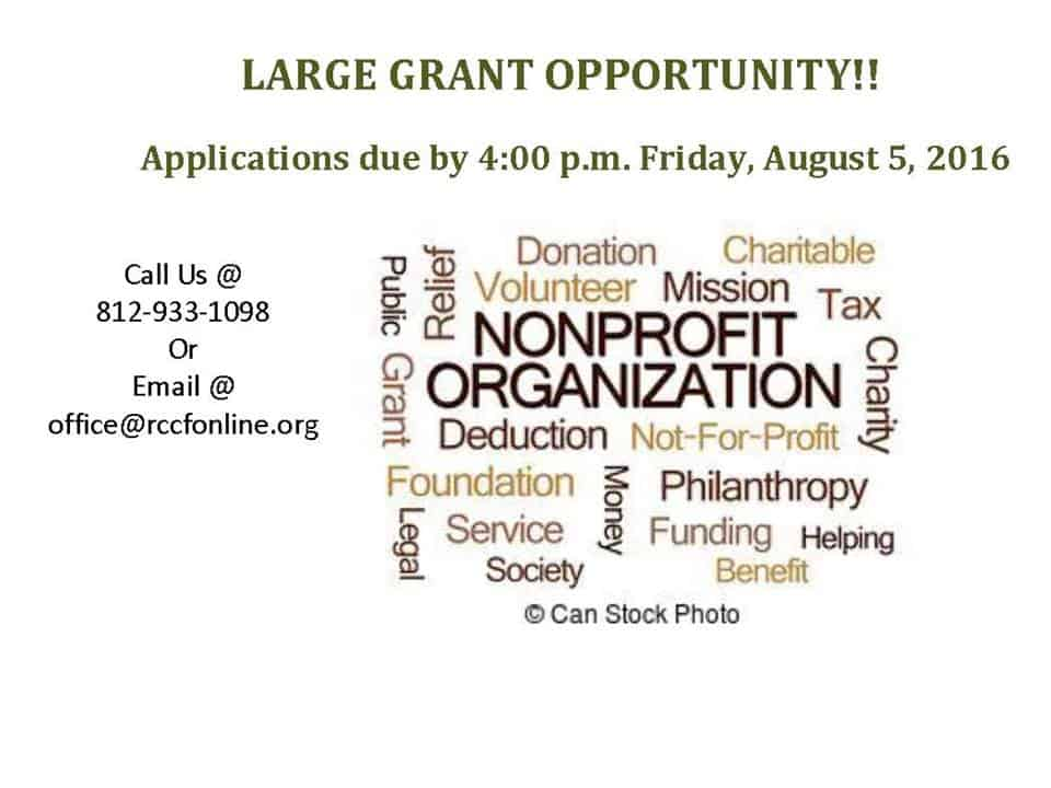 LARGE GRANT OPPORTUNITY