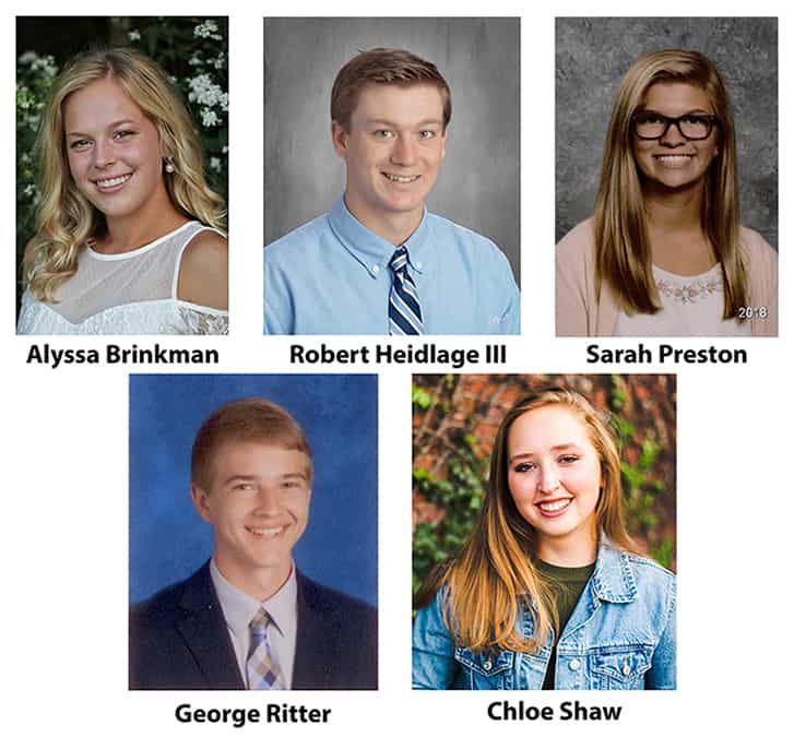 Ripley County Lilly Endowment Community Scholarship Finalists