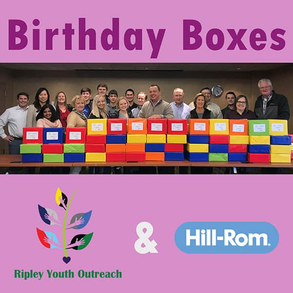 RYO and Hill-Rom IT – Birthday Box Project