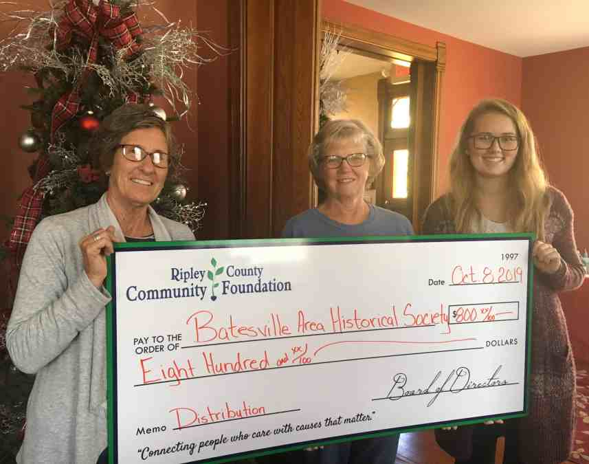 $800 Distribution Grant Awarded to Batesville Area Historical Society