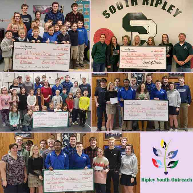 Ripley Youth Outreach Grant Distribution for 2019