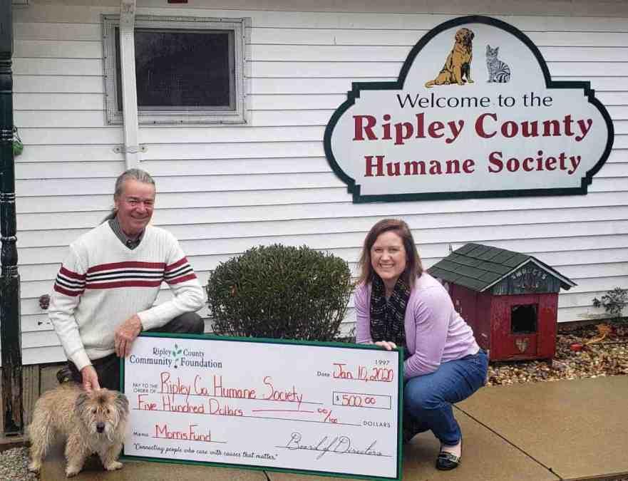 Morris Fund Awarded to Ripley County Humane Society