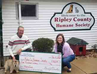 Morris Fund Awarded to Ripley County Humane Society
